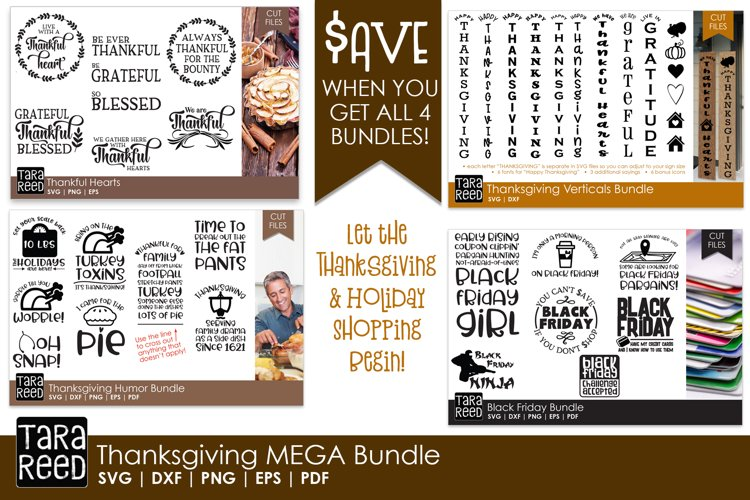 Thanksgiving MEGA Bundle - SVG and Cut Files for Crafters example image 1