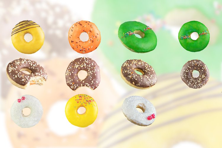 Donuts isolated on a white background. example image 1