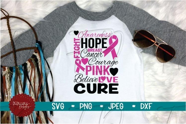 Breast Cancer Awareness SVG, Pink Ribbon, Cancer SVG