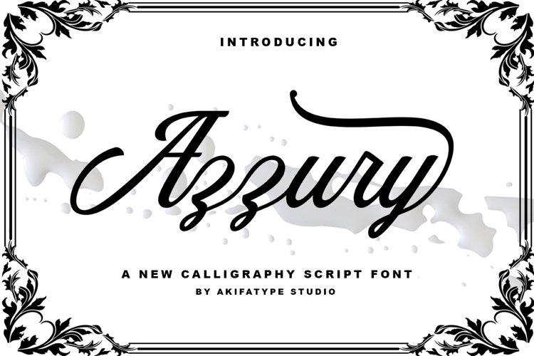Azzury Script example image 1