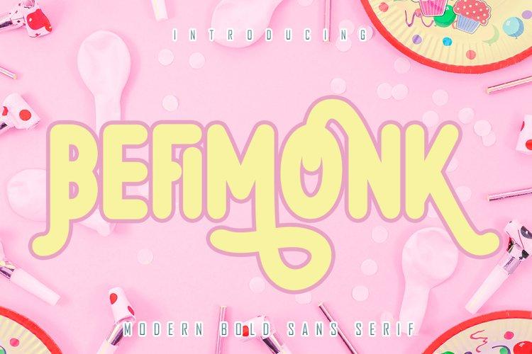 Befimonk - Bold Sans Serif example image 1