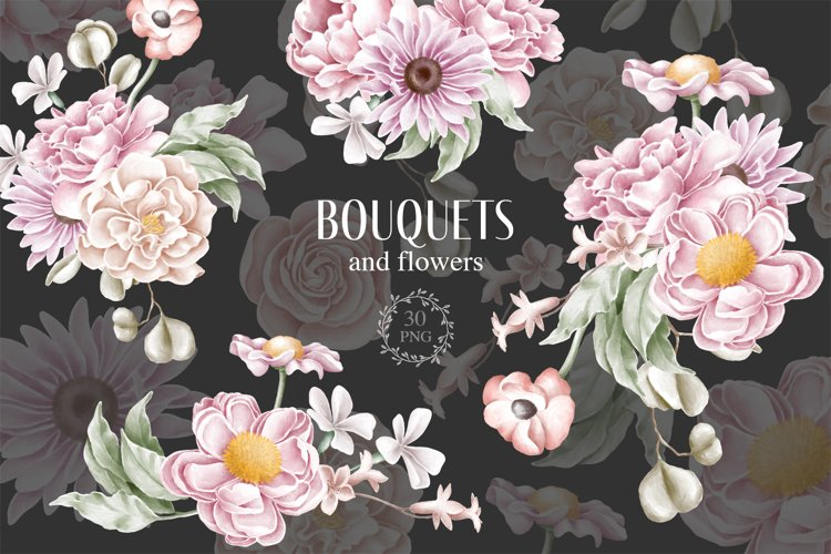 Bouquets and flowers plus patterns