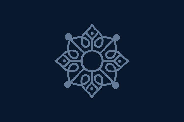 yoga symbol logo and abstract logo example image 1