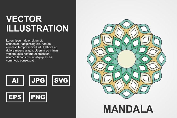 Colorful Vector Mandala Illustration Design example image 1