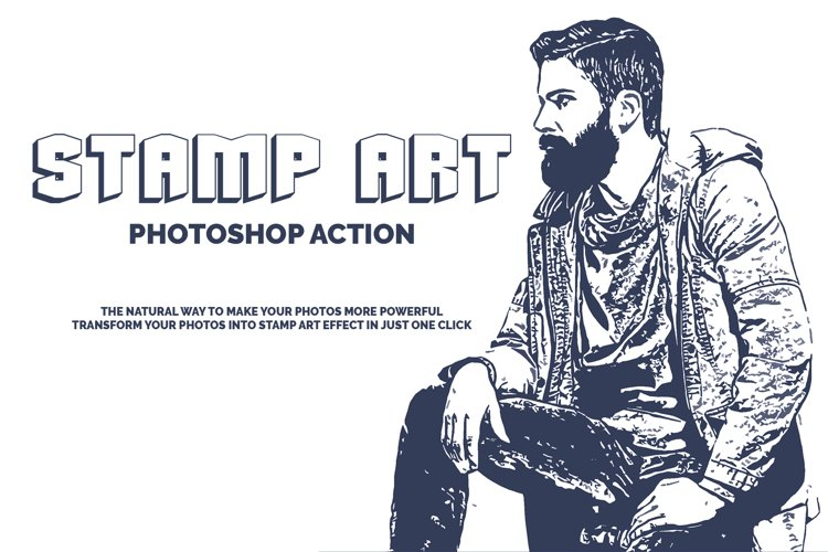 Stamp Art Photoshop Action example image 1