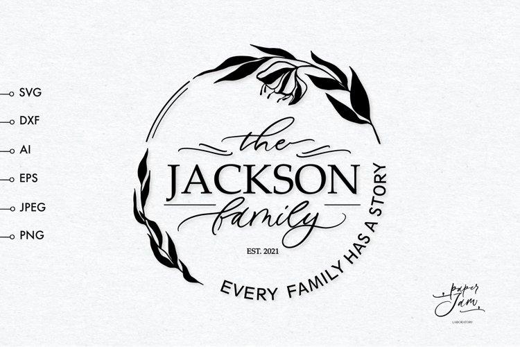 Graceful wedding monogram frame SVG, Family monogram svg example image 1