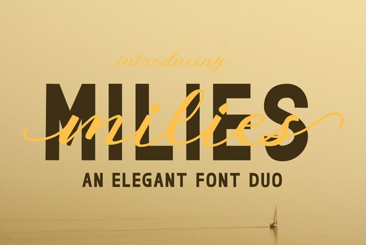milies | an elegant font duo example image 1
