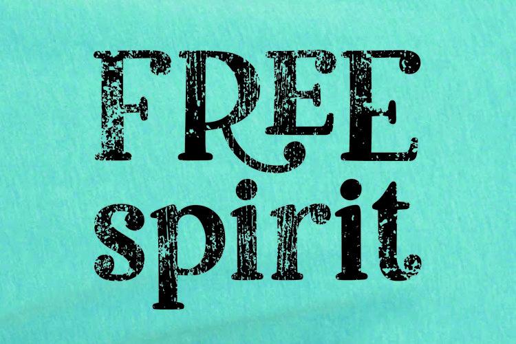 Free Spirit Distressed Typographical Design