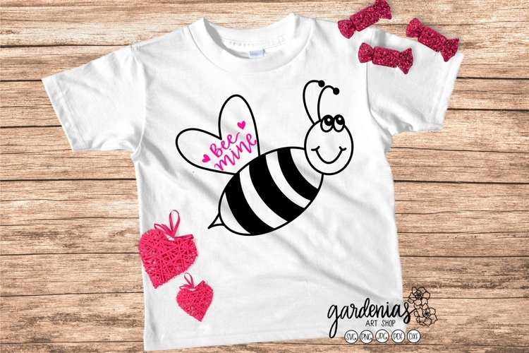 Bee Mine SVG | Cute Kids Valentines | Be Mine Cut File
