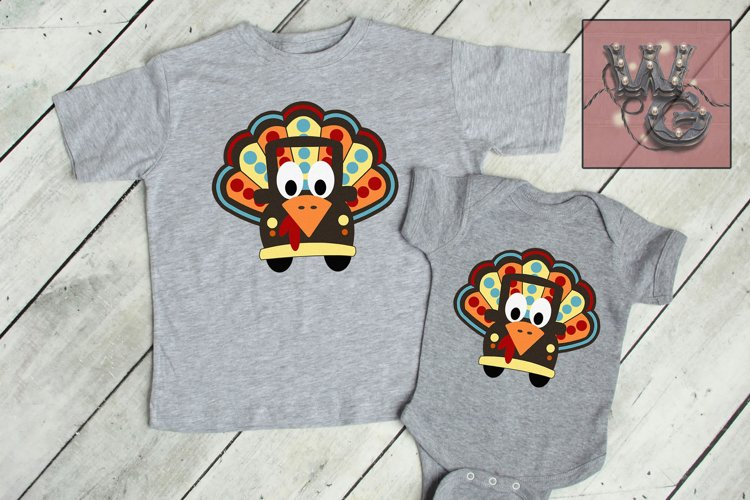 Whimsy Turkey Truck SVG, DXF, PNG, EPS Commercial example image 1