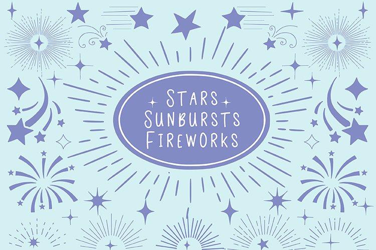 Stars Sunbursts And Fireworks