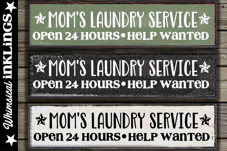 Moms Laundry Service SVG