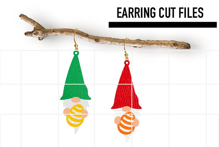Gnome Easter Egg Earrings Svg / Earrings Template example image 1