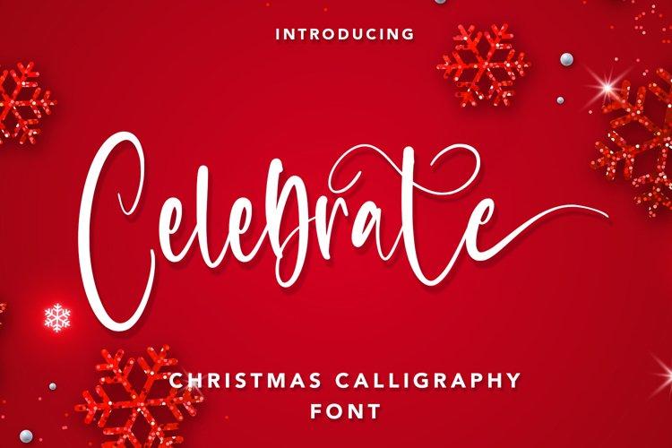 Celebrate - Christmas Calligraphy Font example image 1
