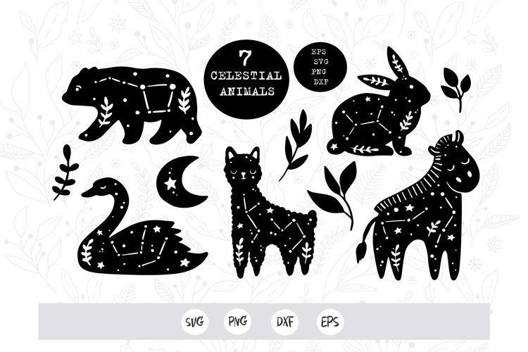 celestial animals svg png / baby animals svg cut file