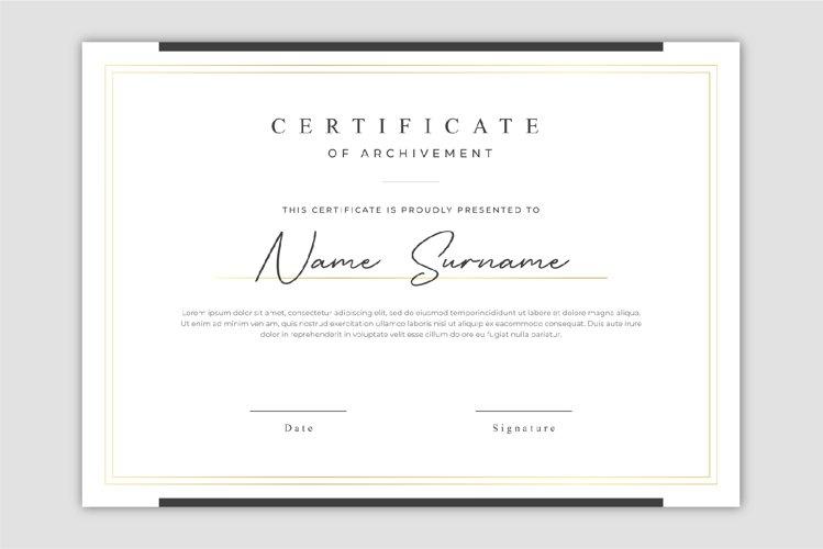 Elegant gold certificate template design
