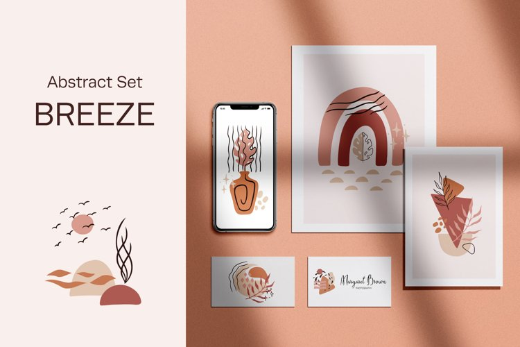 Breeze - Abstract Shapes & Lines Set example image 1
