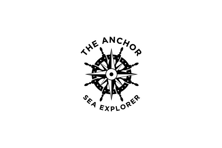 Anchor, Steering Wheel and Compass Logo example image 1