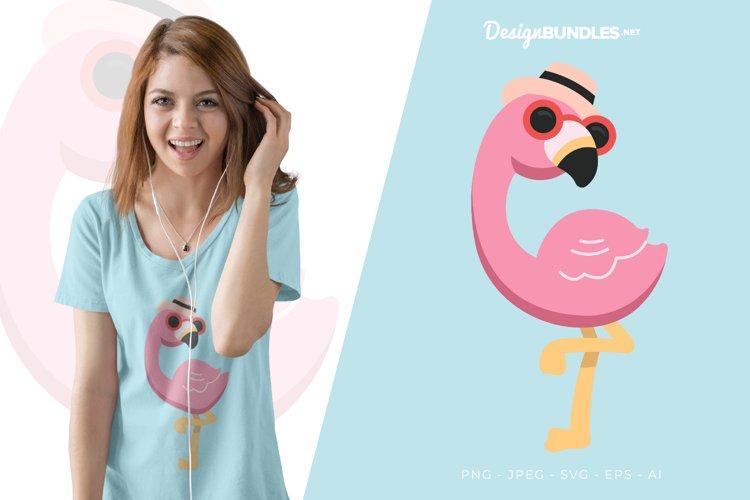 Stylish Flamingo Vector Illustration For T-Shirt Design example image 1