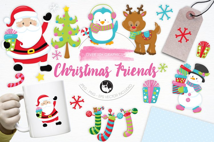 Christmas Friends graphics and illustrations - Free Design of The Week Font