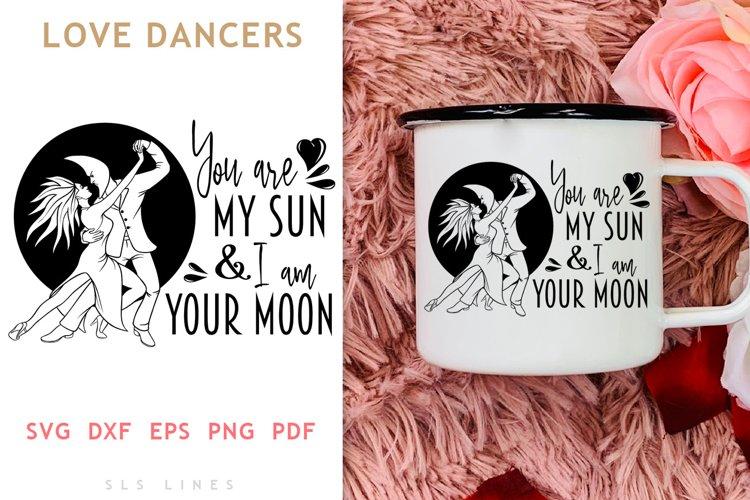 Dancing Sun & Moon SVG - LOVE Valentines Day