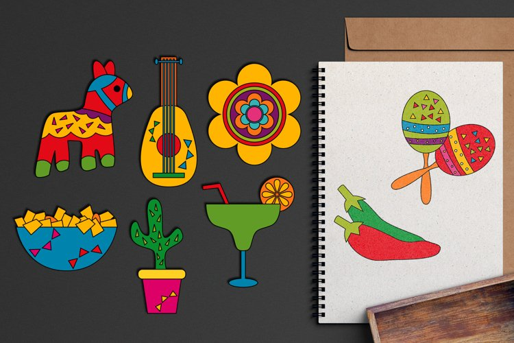 Cinco de mayo fiesta illustration / Mexican 5th May design example image 1
