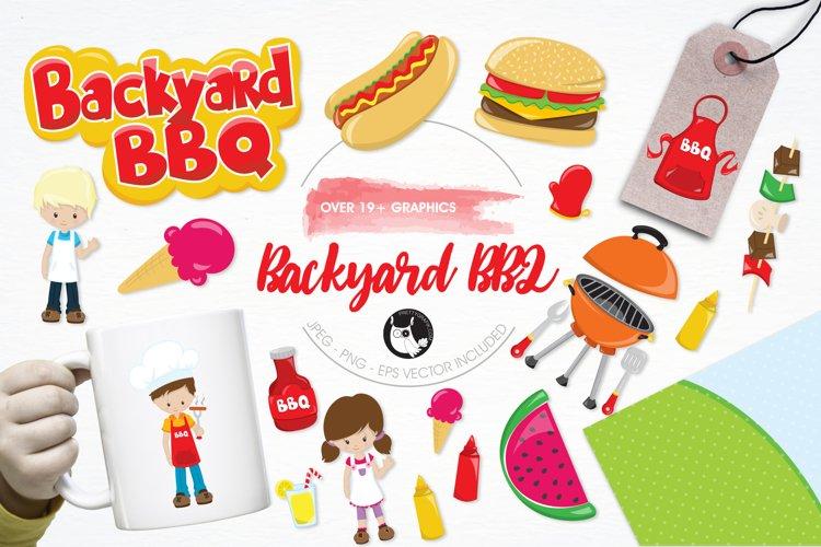 Backyard BBQ graphics and illustrations