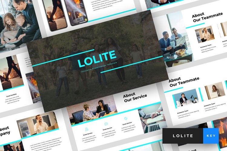 Lolite - Insurance Keynote Template example image 1