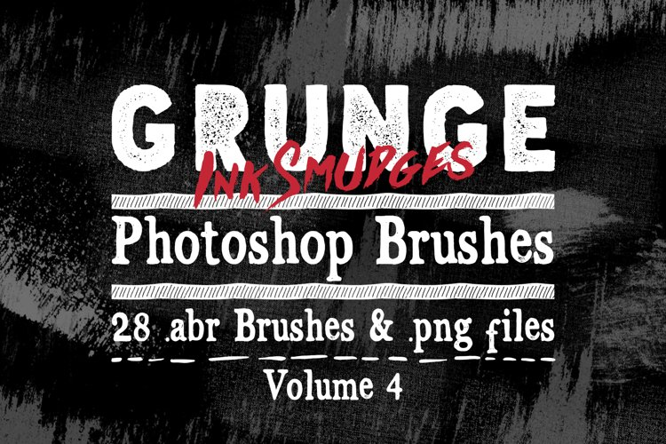 Photoshop Brushes - Grunge Ink Texture Brushes Vol 4 example image 1