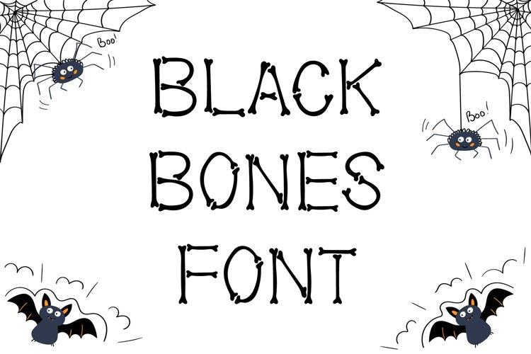 Black Bones Halloween Font