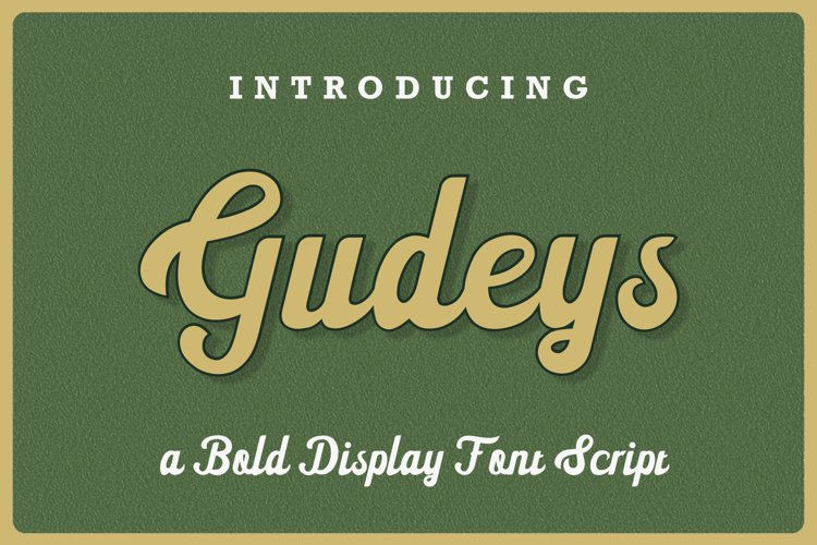 Gudeys - a Bold Display font example image 1