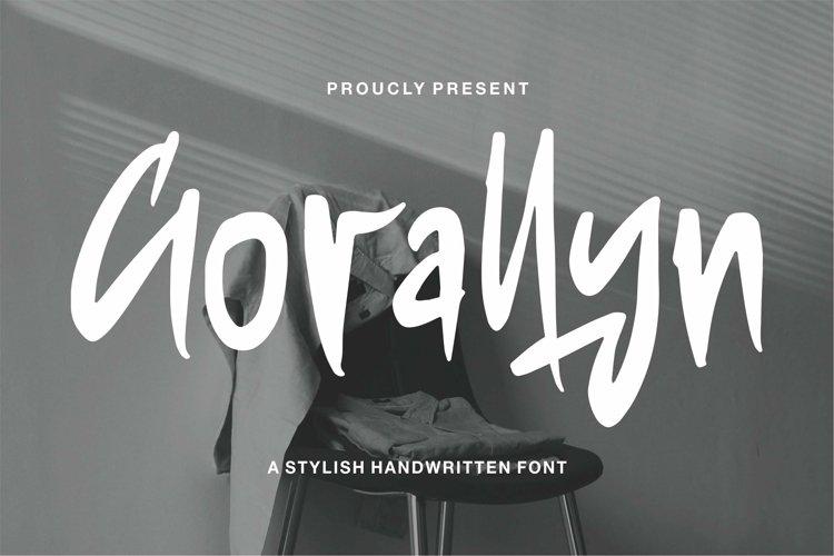 Web Font Gorallyn - A Stylish Handwritten Font example image 1