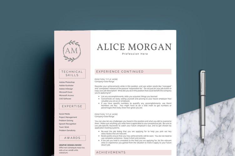 Professional Creative Resume Template - Alice Morgan - Free Design of The Week Design1