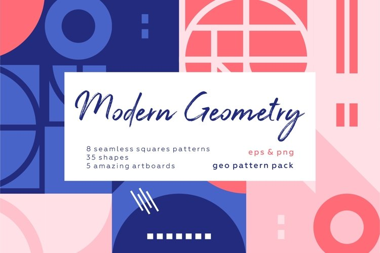 Modern geometry abstract pattern collection example image 1