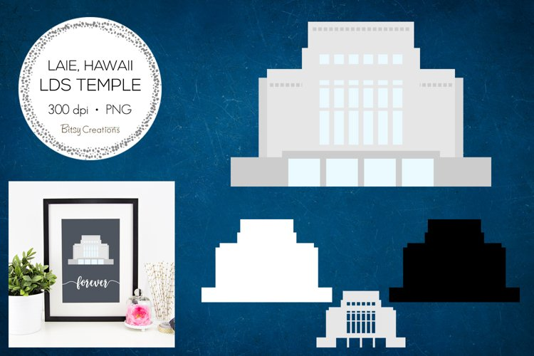 Laie Hawaii LDS Temple Clipart example image 1