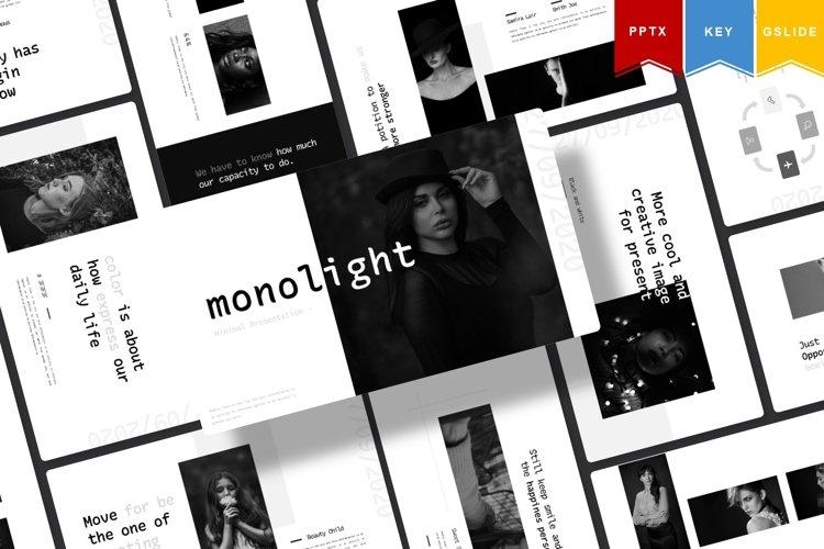 Monolight | Powerpoint, Keynote, GoogleSlides Template example image 1