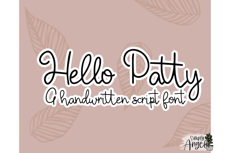 Hello Patty - a smooth handwritten script font example image 1