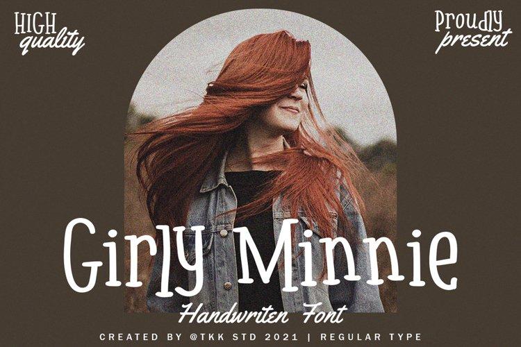 Girly Minnie - Girly Handwritten Font example image 1