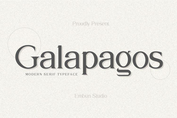 Galapagos Typeface