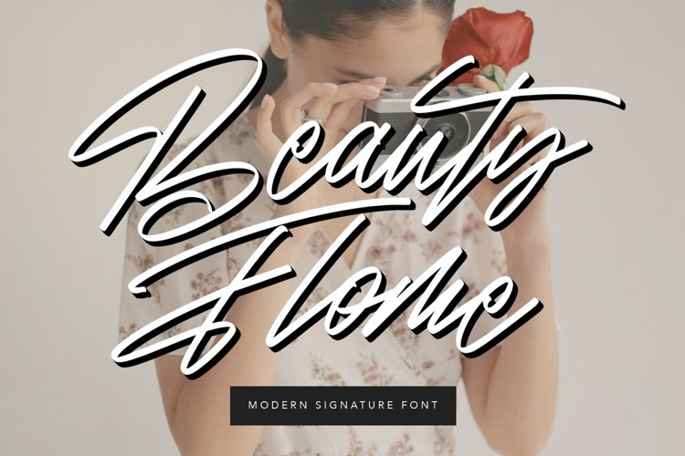 Beauty Flome Signature Modern Font example image 1