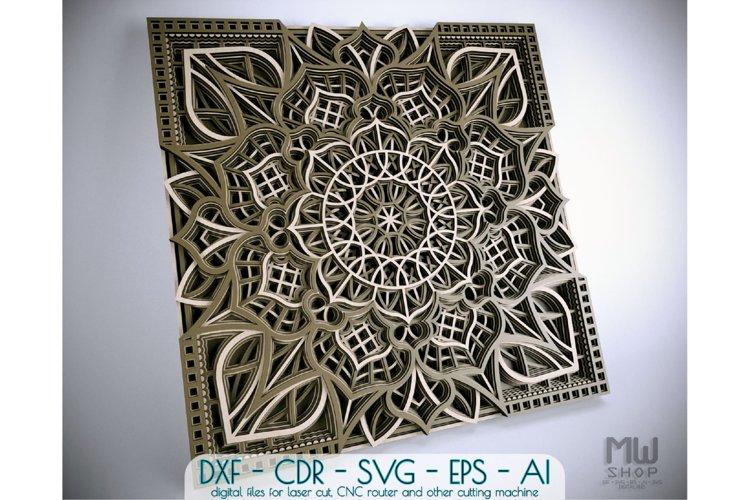 M116 - Multilayer Mandala DXF for Laser cut, Cricut Mandala example image 1