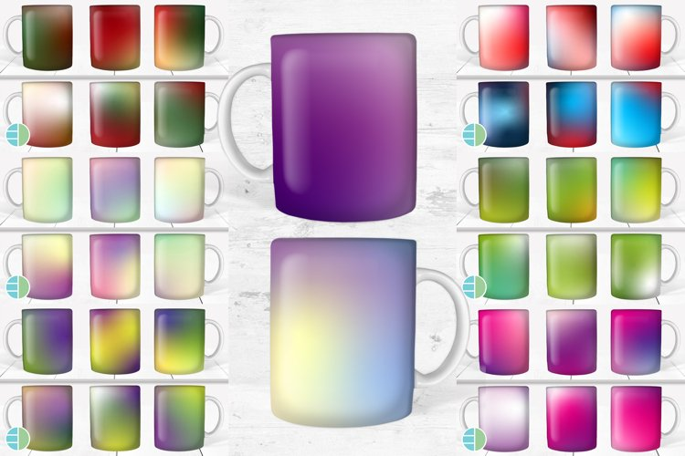 Holiday Ombre Coffee Cup Sublimation Mug Bundle