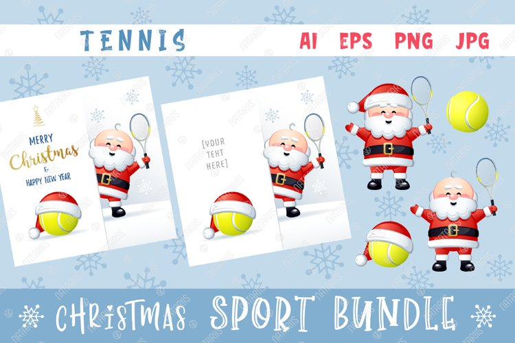 Merry Christmas and Happy New Year. Tennis. example image 1