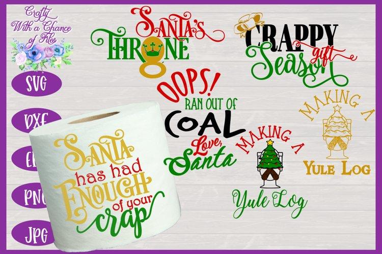 Christmas Toilet Paper SVG Bundle | Funny Christmas Gift SVG