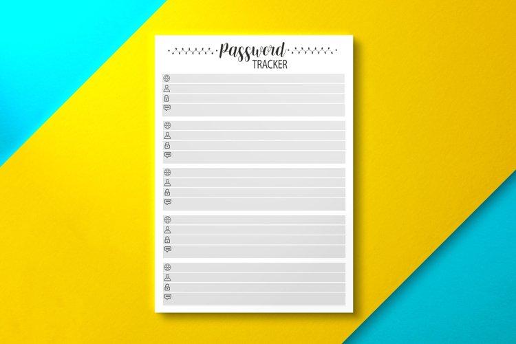 Password Tracker PDF, KDP Interior example image 1