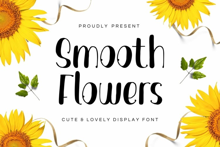 Web Font Smooth Flowers Font example image 1
