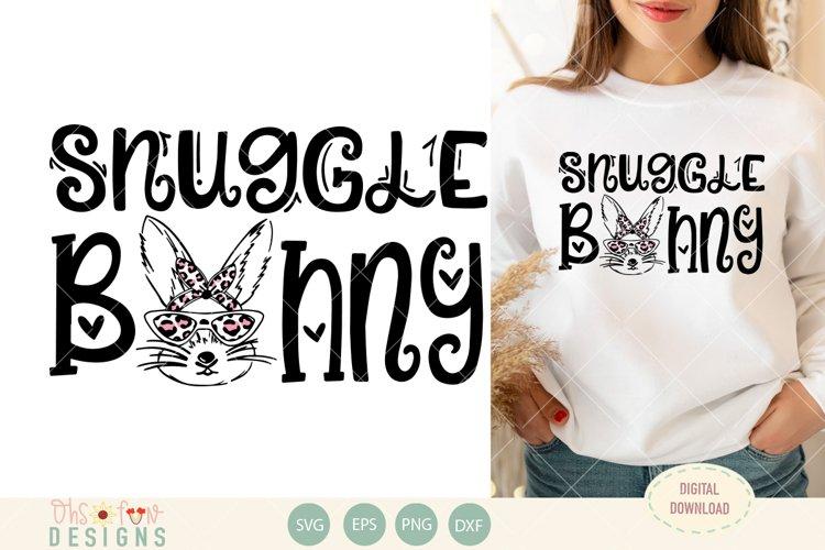Snuggle bunny   Animal print   SVG example image 1