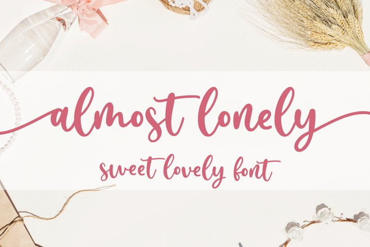Almost Lonely - Sweet Lovely Font example image 1