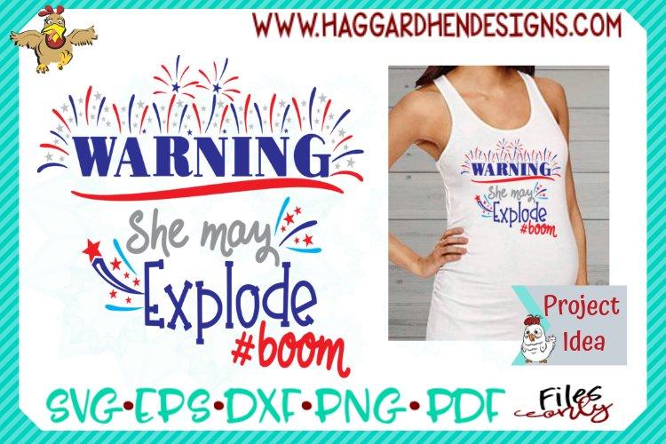 Warning She May Explode SVG example image 1