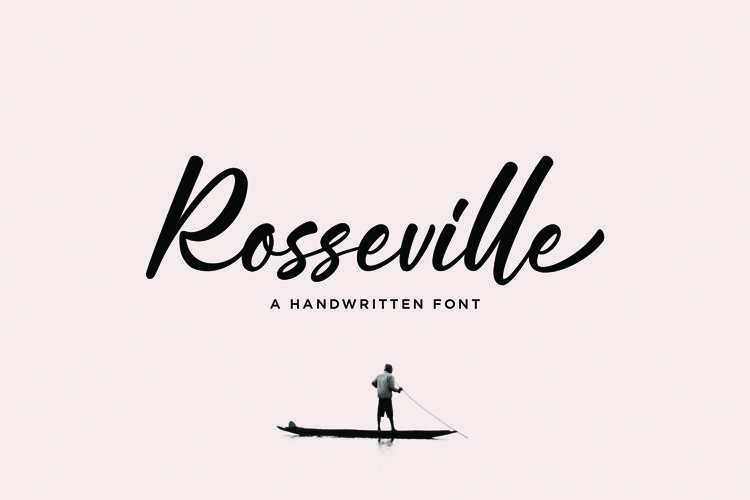 Rosseville - Handwritten Font example image 1